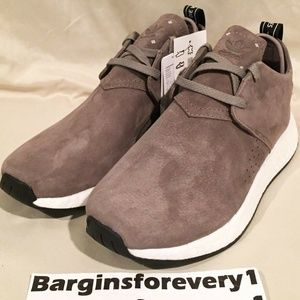 New Men's Adidas NMD_C2 Suede - BY9913 - Brown